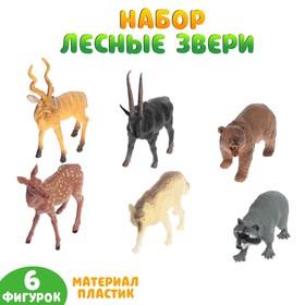 Набор животных «Лесные звери», 6 фигурок
