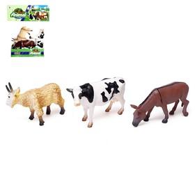 Набор животных «Фермерское хозяйство», 3 фигурки