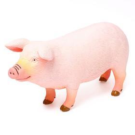 Фигурка животного «Домашняя свинья», длина 28 см