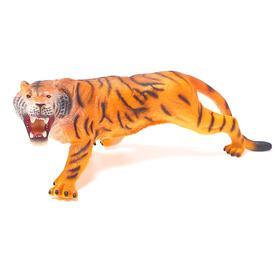 Фигурка животного «Амурский тигр», длина 38 см