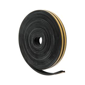 Sealer for Windows and doors UBL010E E-profile (rubber) on an adhesive basis, color black,