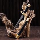 Souvenir knife, 35 cm, black and gold scabbard