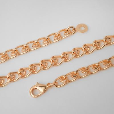 """Chain """"Golden"""" double, color gold, width 6 mm, L=60 cm"""