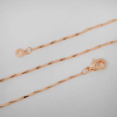 "Chain ""Status"" shards, gold color, width 2 mm, L=50 cm 5181871"