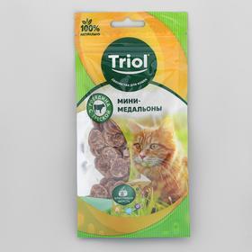 Мини-медальоны из говядины с треской для кошек, 40г