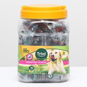 Пикантные сосиски из утки для собак, 500г (банка)