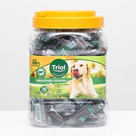 Пикантные сосиски из говядины для собак, 500г (банка)