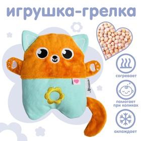 """Развивающая игрушка - грелка с вишнёвыми косточками """"Котик"""""""