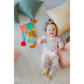 Развивающая игрушка - грелка с вишнёвыми косточками «Котик»