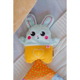 Развивающая игрушка - грелка с вишнёвыми косточками «Зайка»