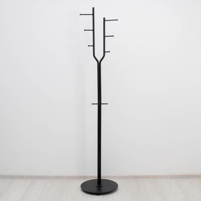 Вешалка напольная «Дубль», 38×38×189 см, цвет чёрный - фото 4641870