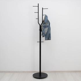 Вешалка напольная «Дубль», 38×38×189 см, цвет чёрный - фото 4641871