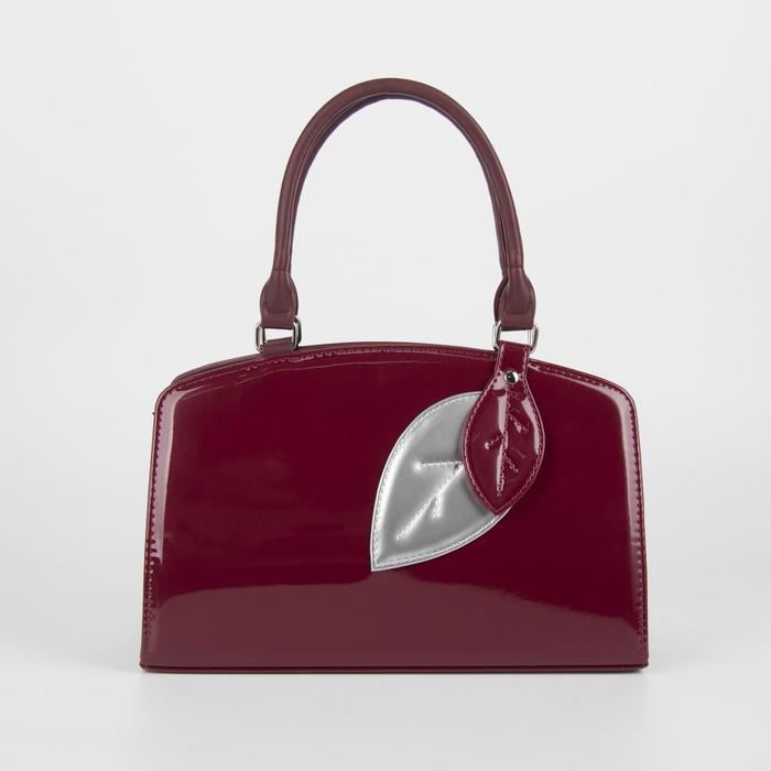 Сумка женская, отдел на молнии, наружный карман, длинный ремень, цвет бордовый - фото 52900