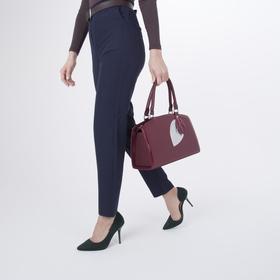 Сумка женская, отдел на молнии, наружный карман, длинный ремень, цвет бордовый - фото 52903