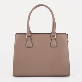 Сумка женская, отдел на молнии, наружный карман, регулируемый ремень, цвет светло-коричневый