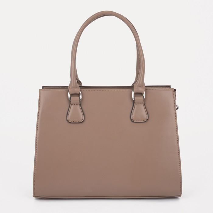 Сумка женская, отдел на молнии, наружный карман, регулируемый ремень, цвет светло-коричневый - фото 762346