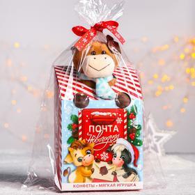 Сладкий детский подарок «Почта Новогодняя»: мягкая игрушка, конфеты 500 г