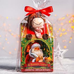 Сладкий детский подарок «С Новым годом»: мягкая игрушка, конфеты 500 г