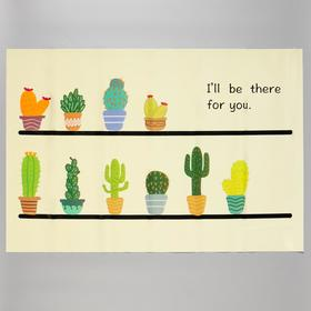 """Sticker on the tile """"Cacti in pots"""" 60x90 cm"""