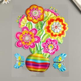 "Наклейка бумага ""Цветы в вазе"" МИКС 25х20 см"