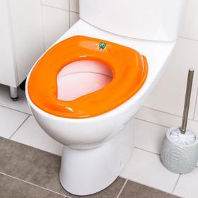Сиденье на унитаз, цвет оранжевый