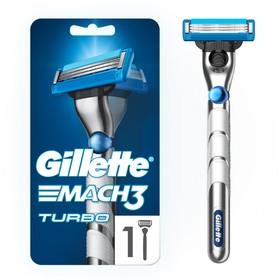 Бритва с 1 сменной кассетой Gillette Mach3 Turbo 3D Red