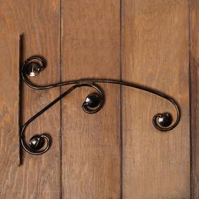 "Bracket for planters, forged, 30 cm, metal, Golden, "" Pattern»"
