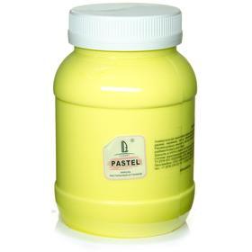 Краска акриловая 500 мл, LUXART Pastel, цвет жёлтый лимон пастельный A5V500