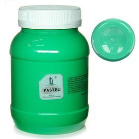 Краска акриловая 500 мл, LUXART Pastel, цвет зелёный тёмный пастельный A8V500