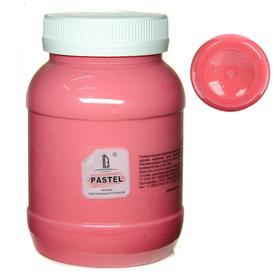 Краска акриловая 500 мл, LUXART Pastel, цвет красный тёплый пастельный A2V500