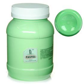Краска акриловая 500 мл, LUXART Pastel, цвет салатовый пастельный A6V500