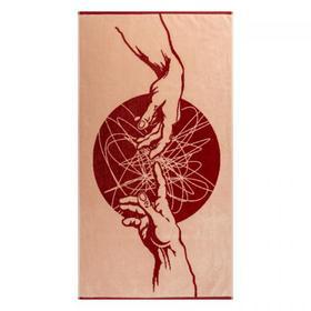Полотенце махровое Fresco ПЦС-2602-4444 50х90, красный, хлопок 100%, 460г/м2