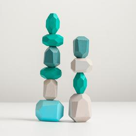 Набор деревянных камней «Речные камни - балансиры» 10 шт.