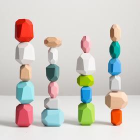 Набор деревянных камней «Речные камни - балансиры» 22 шт.