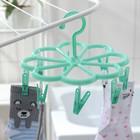 Сушилка для белья подвесная, 8 прищепок, 23×23 см, цвет МИКС - фото 4635011