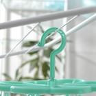 Сушилка для белья подвесная, 8 прищепок, 23×23 см, цвет МИКС - фото 4635012