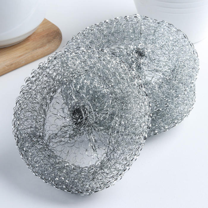 Набор губок для чистки посуды, 3 шт, 12 гр