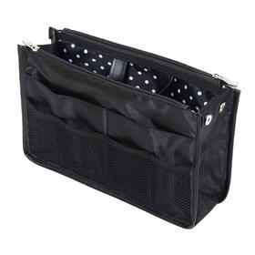 Органайзер для сумки SOFIA, 28х16х10 см, 8 карманов, цвет черный