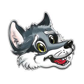 Cardboard Wolf mask.