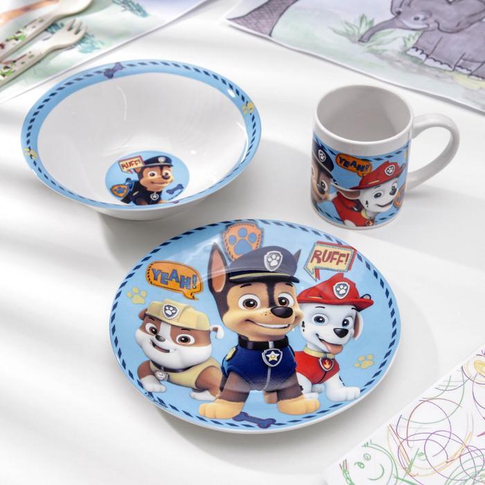 Набор посуды «Щенячий патруль. Символы», 3 предмета - фото 485404
