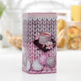 Банка для сыпучих продуктов прямоугольная «Чайное наслаждение», 1,4 л, МИКС