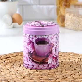 Банка для сыпучих продуктов круглая «Чайное наслаждение», 0,8 л, МИКС