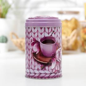 Банка для сыпучих продуктов «Чайное наслаждение», 1,1 л, круглая, МИКС