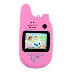 Детский цифровой фотоаппарат Walkie Talkie HD, с рацией, модель 5207947, розовый