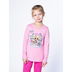 Футболка LOL с длинным рукавом для девочек «Блеск», рост 110 см, цвет розовый
