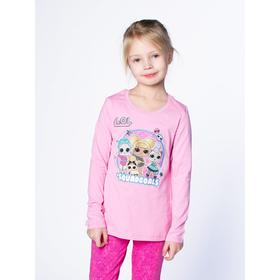 Футболка LOL с длинным рукавом для девочек «Блеск», рост 122 см, цвет розовый