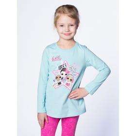 Футболка LOL с длинным рукавом для девочек «Звезда», рост 128 см, цвет розовый