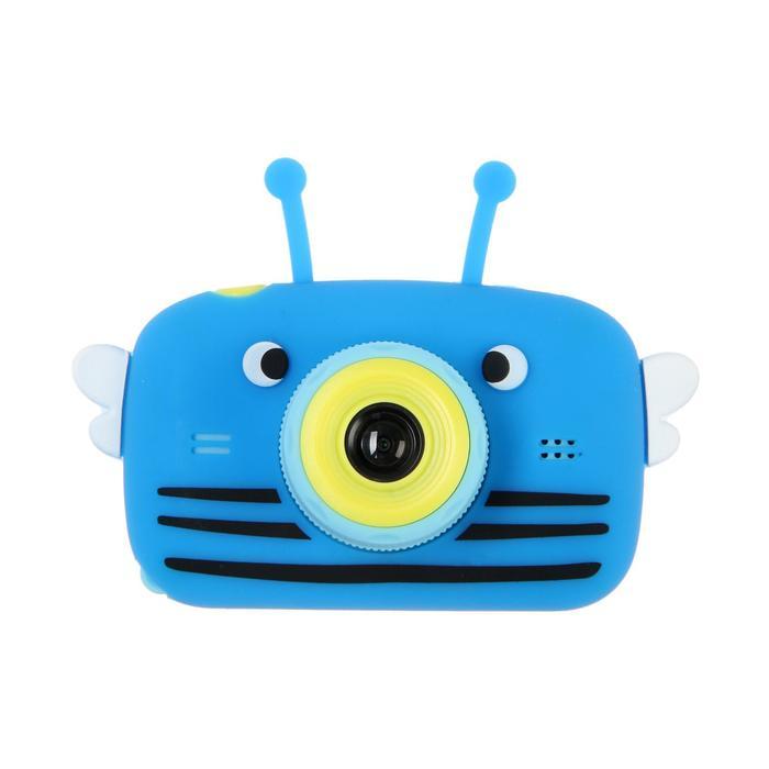 """Детский цифровой фотоаппарат Children's Fun Camera Bee """"Пчела"""", модель 4356857, синий - фото 763020"""
