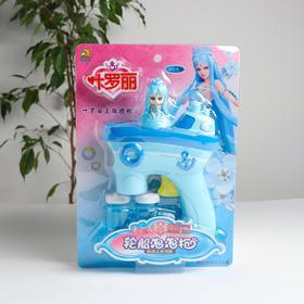 Генератор мыльных пузырей без батареек «Принцесса» голубой 15х5х21,5 см