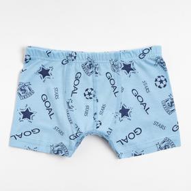 Трусы-боксеры для мальчика, цвет светло-голубой, рост 104-110 см